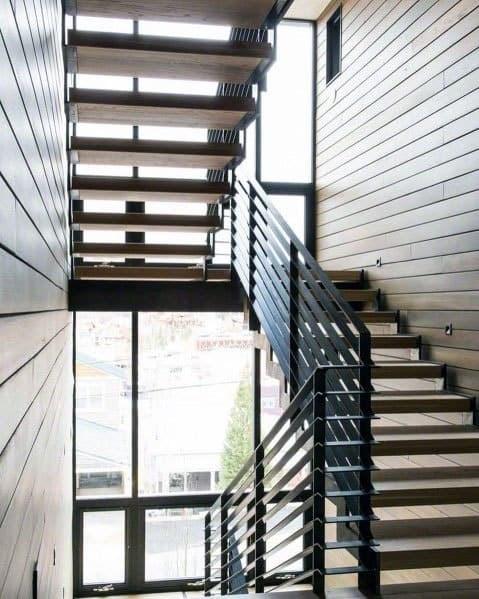 Top 70 Best Stair Railing Ideas Indoor Staircase Designs   Stair Railing Wood And Steel   Stair Inside   Baluster   Tall Stair   Indoor Stair   Solid Wood
