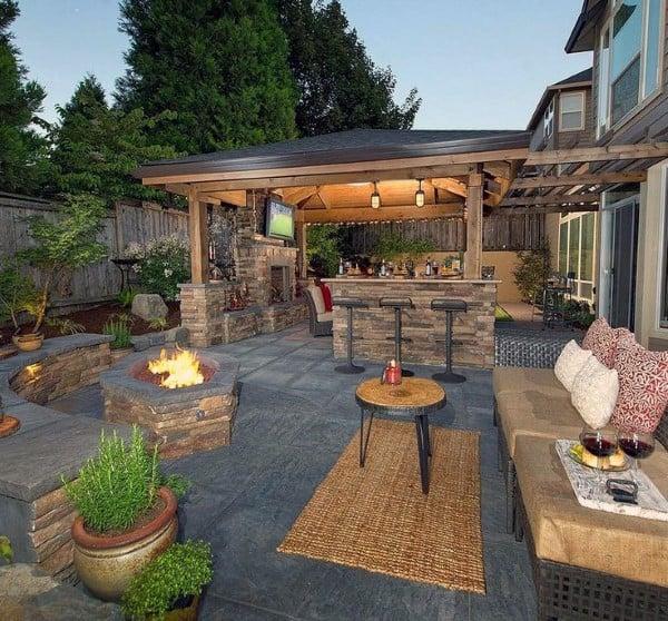 back yard patio design idea Top 60 Best Cool Backyard Ideas - Outdoor Retreat Designs