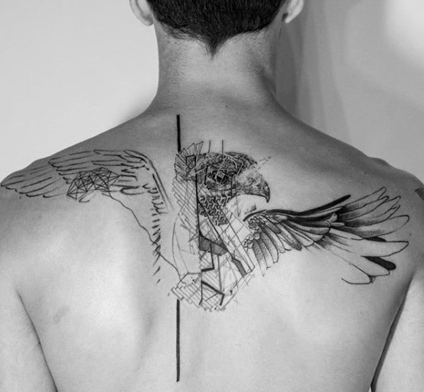 Geometric Back Tattoo  Inkstylemag