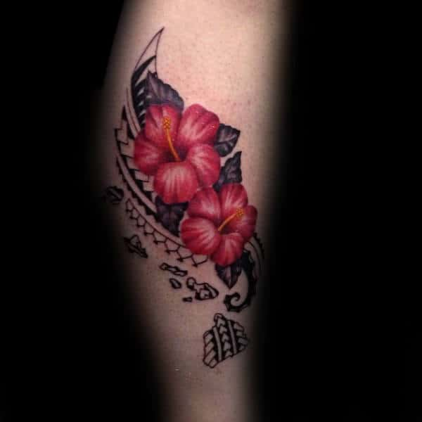20 Hibiscus Tattoos For Men Drawings Ideas And Designs