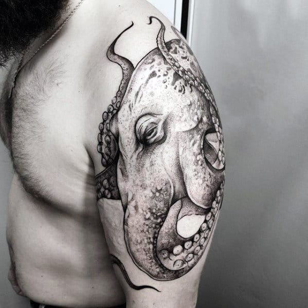 20 Octopus Tattoos On Upper Arm Ideas And Designs