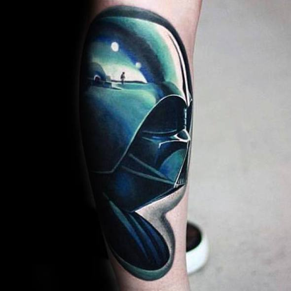 Cool Incredible Darth Vader 3d Forearm Tattoo Design Ideas For Male