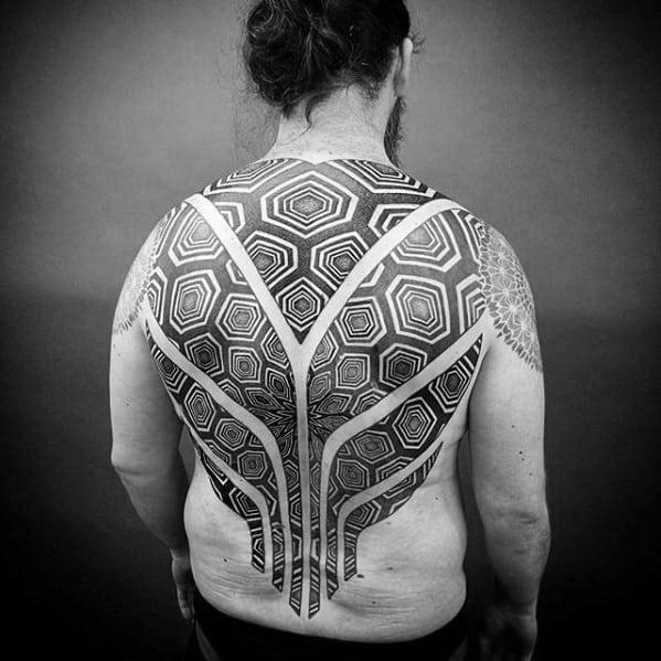 Geometric Back Tattoo  Inkstylemag