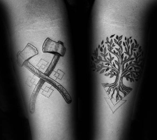 20 Tree Inner Arm Tattoos Men Ideas And Designs