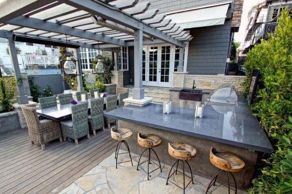 Top 50 Best Backyard Outdoor Bar Ideas Cool Watering Holes