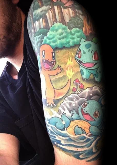 80 Pokemon Tattoos For Men Catch Cool Design Ideas