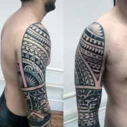 tribal tattoos polynesian arm tattoo designs sleeve cool mens patterns improb