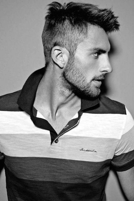 Casual Short Thin Hair Cuts For Men With Beards