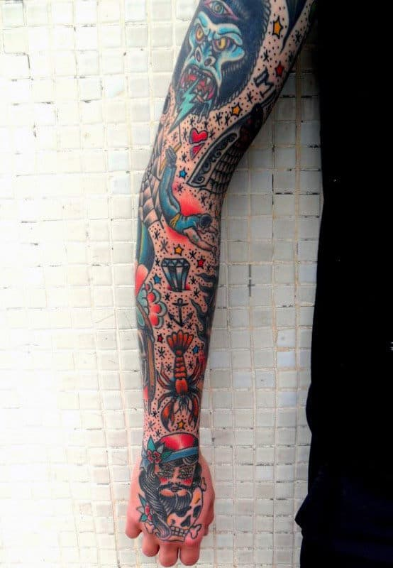 Traditional Forearm Tattoo : traditional, forearm, tattoo, Traditional, Tattoo, Sleeve, Ideas, [2021, Inspiration, Guide]