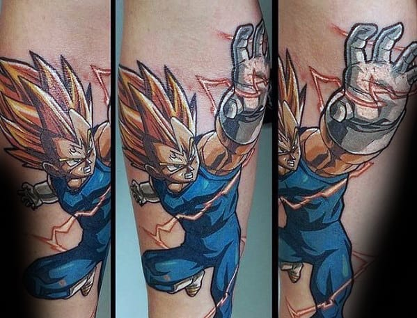 Final Explosion Majin Vegeta Tattoo