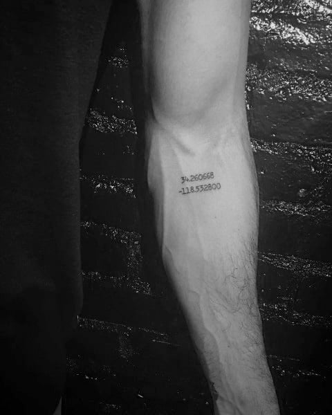 50 Coordinate Tattoo Ideas For Men Geographic Landmark
