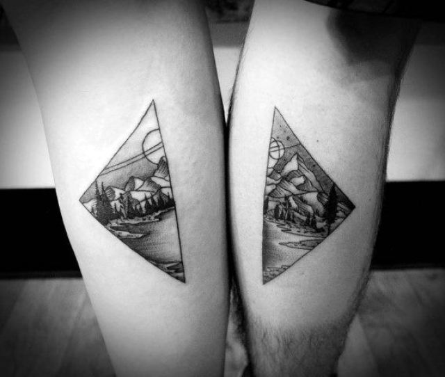 Couple Tattoo Matching Ideas On Legs