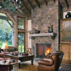 Pictures Of Living Rooms With Stone Fireplaces Ideas For Arranging Furniture In A Rectangular Room Top 70 Best Fireplace Design Rustic Rock Interiors Cozy