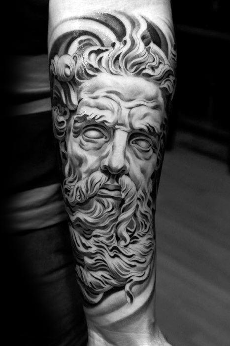 Marble Statue Tattoo : marble, statue, tattoo, Roman, Statue, Tattoo, Designs, Stone, Ideas