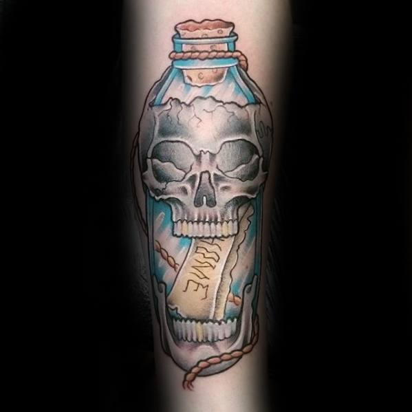 20 Ink Bottle Tattoo Design Ideas And Designs