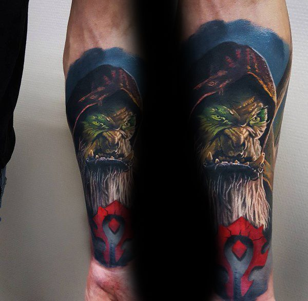 70 World Of Warcraft Tattoo Designs For Men Video Game Ink Ideas