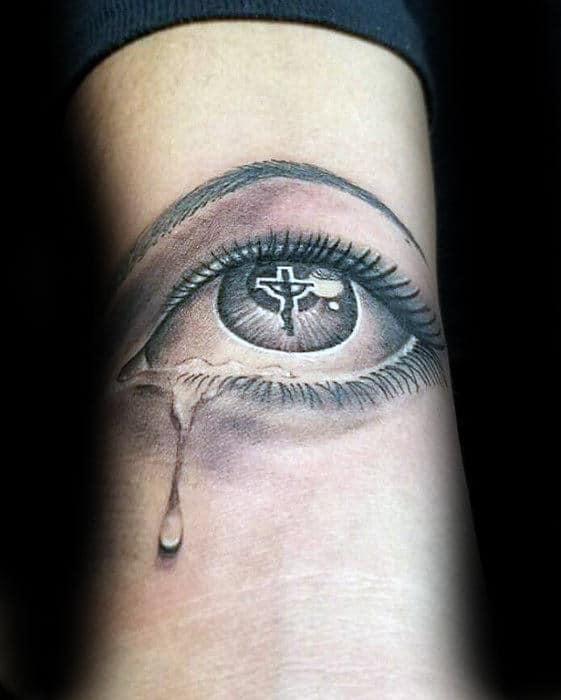 Crying Eye Tattoo : crying, tattoo, Realistic, Tattoo, Designs, Visionary, Ideas