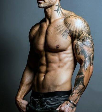 Cross Tattoos For Men Chest