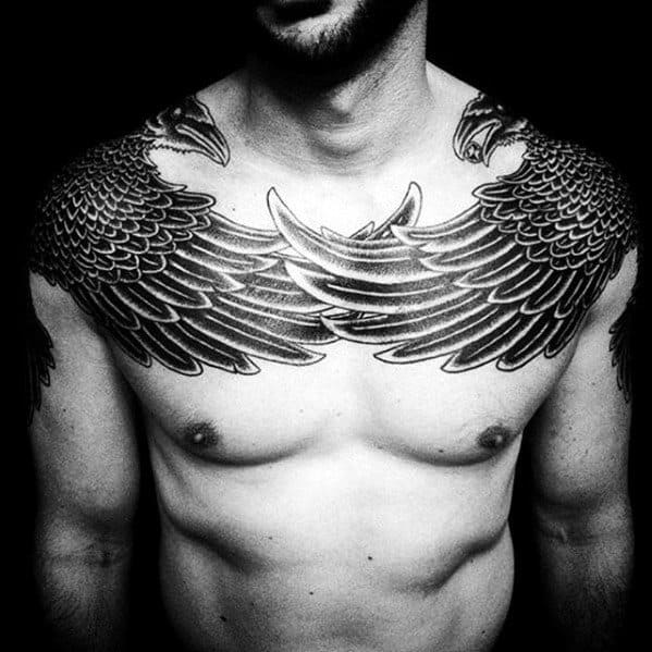 20 Mens Chest Shoulder Tattoos Clever Ideas And Designs