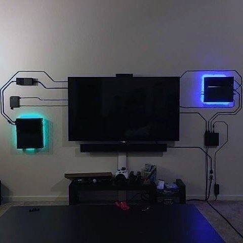 hiding tv in living room storage units argos 50 gaming man cave design ideas for men - manly home retreats