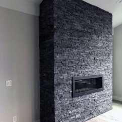 Tiled Living Room Where To Buy Cheap Furniture Top 60 Best Stacked Stone Fireplace Ideas - Interior Designs