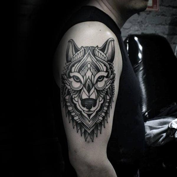Unterarm Tattoo Manner Wolf
