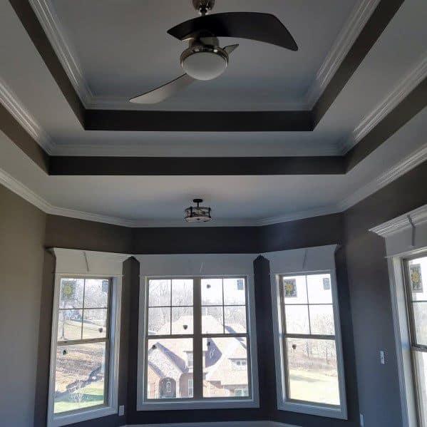 garage door living room built in wall cabinets top 50 best trey ceiling ideas - overhead interior designs