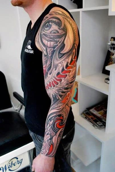 Dragon Sleeve Tattoo