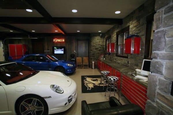 50 Man Cave Garage Ideas Modern To Industrial Designs