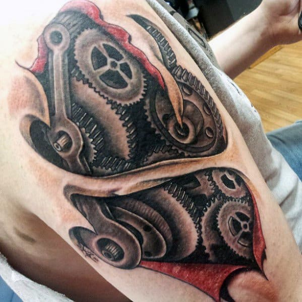 30 Engineering Tattoo Designs For Men  Mechanical Ink Ideas
