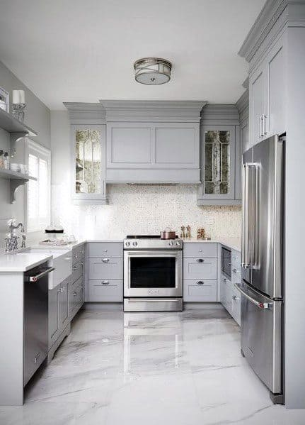 kitchen floors ikea base cabinets top 60 best flooring ideas cooking space epoxy polished concrete with grey