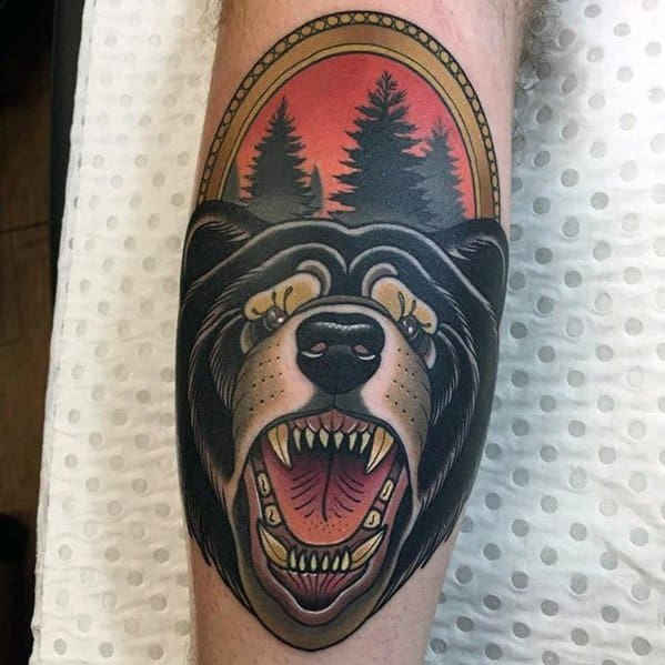 30 Neo Traditional Bear Tattoo Ideas For Men  Animal Designs