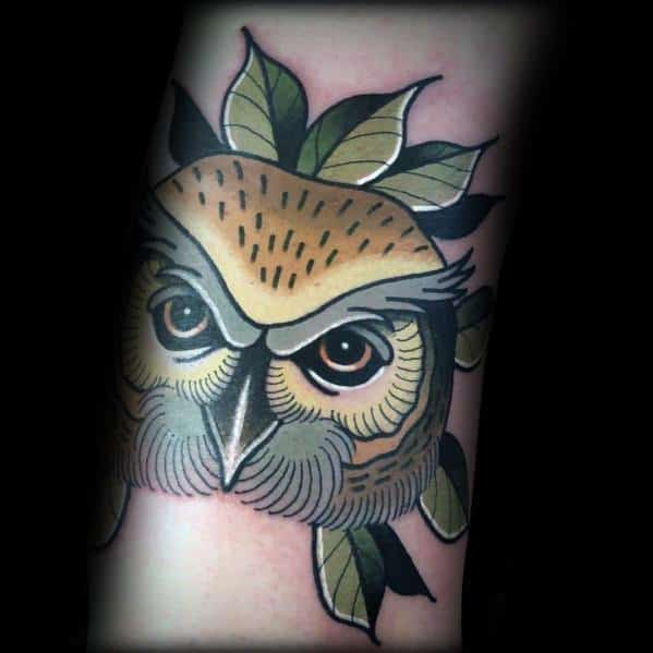 40 Neo Traditional Owl Tattoo Ideas For Men  Bird Designs