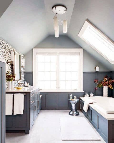 Get inspired with these 25 gray bedroom decorating ideas. Top 50 Best Blue Bathroom Ideas - Navy Themed Interior Designs