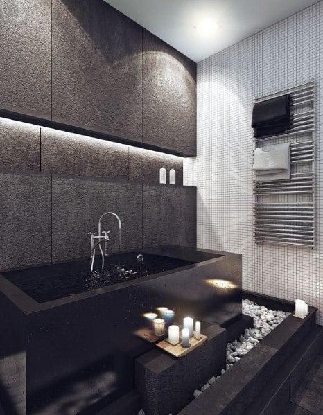 modern bathroom shower design ideas Top 60 Best Modern Bathroom Design Ideas For Men - Next Luxury