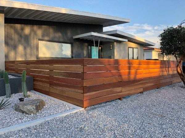 modern fence ideas