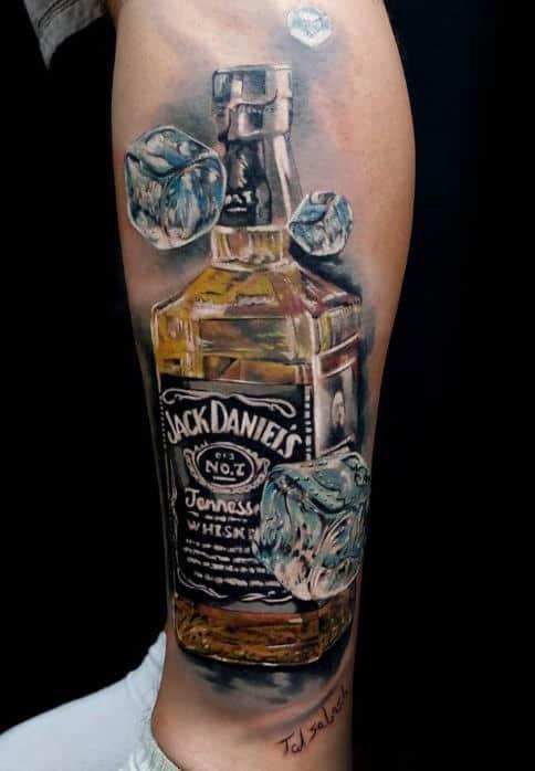 60 Jack Daniels Tattoo Designs For Men  Whiskey Ink Ideas