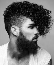 curly fade haircuts men