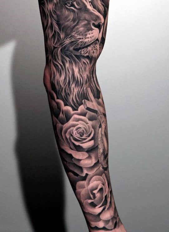 Masculine Flower Tattoo : masculine, flower, tattoo, Flower, Tattoos, [2021, Inspiration, Guide]