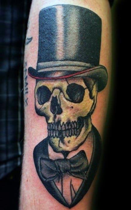 Skulls With Top Hat Tattoos : skulls, tattoos, Skull, Tattoo, Designs, Manly, Ideas