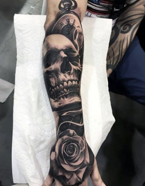 Half Sleeve Tattoos Forearm Roses