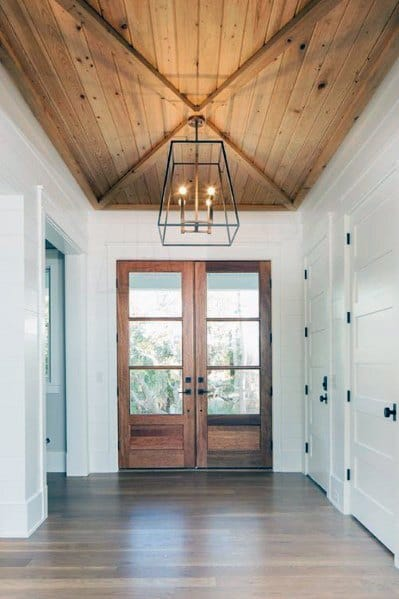 Bedroom Door Designs In Wood Top 60 Best Wood Ceiling Ideas - Wooden Interior Designs