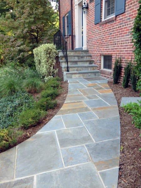 Top 40 Best Flagstone Walkway Ideas  Hardscape Path Designs