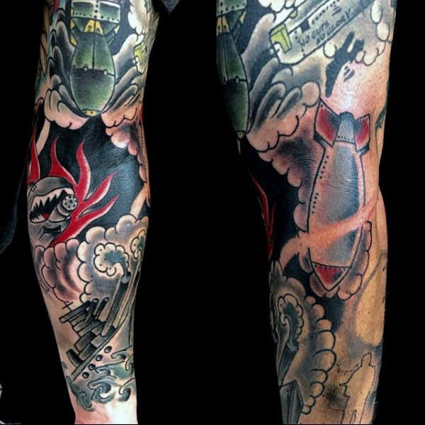Military Army Sleeve Tattoos