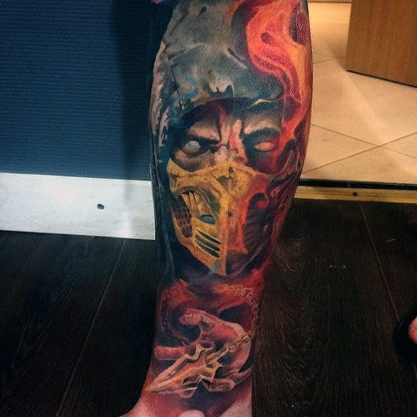 Mortal Kombat 11 Scorpion Tattoo