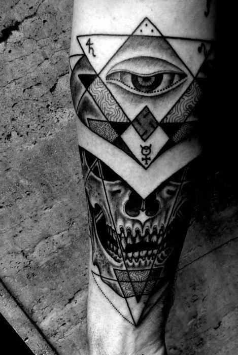 Geometric Eye Tattoo : geometric, tattoo, Providence, Tattoo, Ideas, [2021, Inspiration, Guide]
