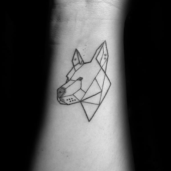 Pitbull Head Outline Tattoo