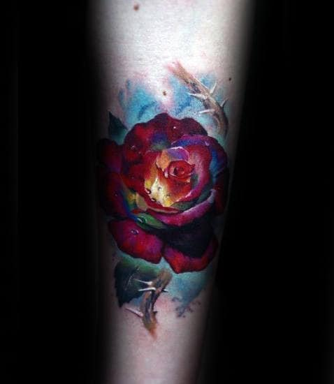 Arm Tattoo Rose For Men