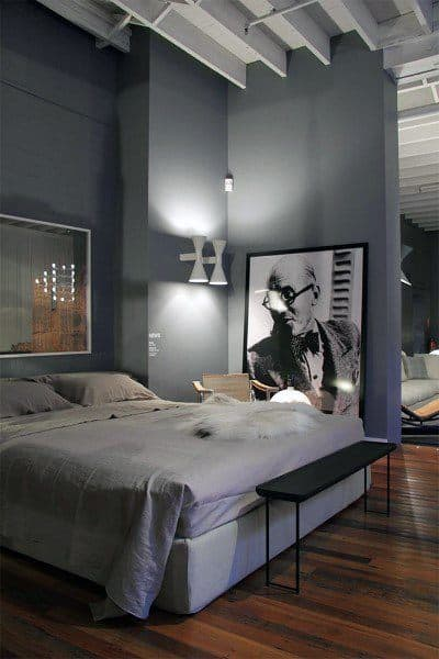 Top 60 Best Grey Bedroom Ideas Neutral Interior Designs