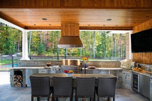 outdoor kitchens ideas small kitchen idea top 60 best chef inspired backyard designs grill with dining room table